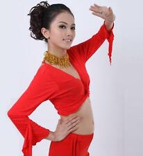 ST03# Belly Dance Tribal Flared Sleeves Top Blouse 9 Colors