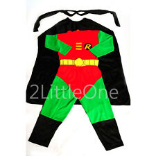 Halloween Robin Hero Kid Boy Fancy Halloween Party Costumes Outfit Sz 2T-7 FC007