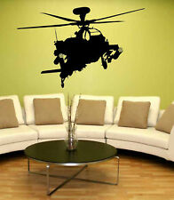 Apache Helicopter Military Army Vinyl Sticker Decal 3FT