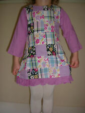 New Age 1 2 Monsoon Lilac Cotton Patchwork Dress 12 24 Months LAST ONE