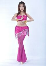New Sexy Belly Dance Costume 2 pics top&pants 11 colours