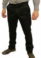 Mens Black Sta Prest Stay Pressed Retro MOD Trouser