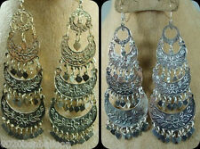 tribal Belly dance Earrings dangle COINS egypt jewelry