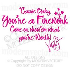 Katy Perry Song Lyric Vinyl Wall Quote Decal FIREWORK