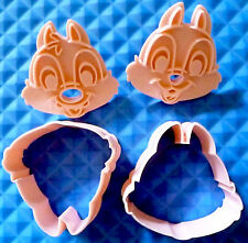 2pc Chip 'n' Dale Chipmunks biscuits cookie cutters
