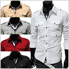THELEES Man premium Cotton & Spandex Slim fit Style Strap 3 Pocket Long Shirts