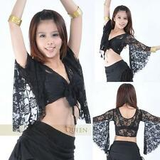 SFL01# Belly Dance Costume Flared Sleeves Lacy Top 11 Colors