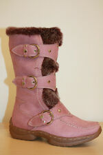 NIB Girls Kids Suede Winter Fur Boots Shoes Buckles