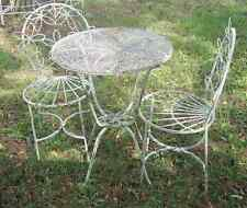Wrought Iron Adult Daisy Flower Table without Chairs  - Metal Outdoor Furniture