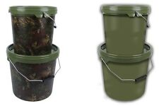 Gardner Carp Fishing Green/Camo 5L/10L/15L Bait Bucket