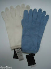 NWT Ann Taylor Cashmere Gloves in Blue or White