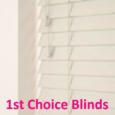 MADE TO MEASURE CREAM WOODEN VENETIAN BLIND REAL WOOD