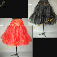 "(Black),(Red)  Rock n' Roll Petticoat Lady 50s Underskirt Tutu 26"" UK 8-18 S-L"