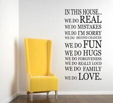 We Do In This House         WALL STICKER KITCHEN Quote Art Decal-FL