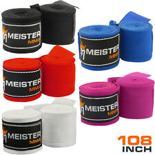 """JUNIOR 108"""" HAND WRAPS (Pairs) - FREE S/H! Meister MMA Mexican Handwraps Boxing"""