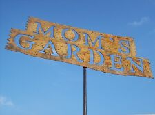 Tin Moms Garden Sign Stake Home Decor Metal Yard Ornament Rustic Art
