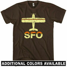 FLY SAN FRANCISCO T-shirt - SFO Airport Bay Area Oakland California NEW - XS-4XL