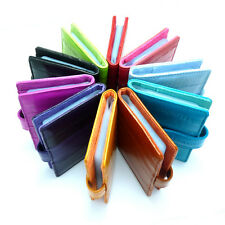 New Genuine Eel skin Leather Credit Card Case Holder Leather Wallet