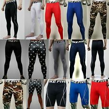 Mens Compression Under Base Layers Tights Yoga Golf Leggings Skin Shorts Pants