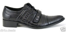NEW SYLISH CAP TOE BUCKLE OXFORDS LACE UP BLACK MENS DRESS PARTY SHOES (A911-11)
