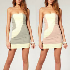 Fitted Strapless Bodycon Cocktail Party Clubwear Mini Dress co9660 Size S M L