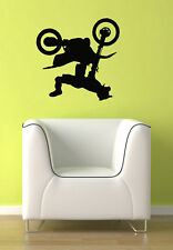 Large Motocross Motorcross Stunt Dirt Bike Kid Room Wall Vinyl Decal Sticker