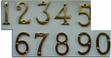 "2"" 50mm Top Quality Polished Brass House Flat Door Number Numerals 123456789 A B"