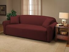 RUBY JERSEY SOFA STRETCH SLIPCOVER, COUCH COVER, CHAIR LOVESEAT SOFA RECLINER