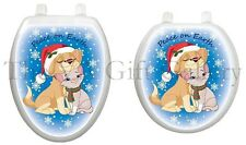 Peace on Earth Toilet Tattoo, Decor, Decal, Cover, Christmas, Dog, Cat TTX608