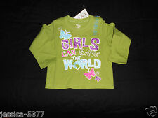 THE CHILDREN'S PLACE Girls Long Sleeve Shirt ( Girls Can Save The World ) NWT