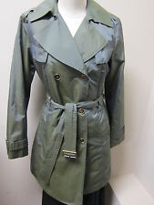 Cole Haan Double Breasted Trench Raincoat w/Removable Lining Iridescent Lake NWT