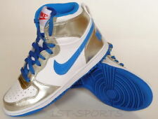 NEW JUNIORS BIG NIKE HIGH LE WHITE/BLUE TRAINERS SHOES
