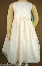 Size 5 and 6X    New Cinderella Peach/Pink Dress With Lace Overlay