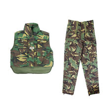 Kids Boys Girls Army Soldier Camo Clothing - Combat Trousers & Body Warmer