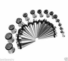 Stainless Steel Tapers & Plugs Kit, Tunnels, Stretcher, Expander Pick Size