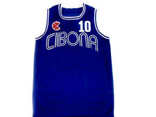 DRAZEN PETROVIC #10 CIBONA BASKETBALL JERSEY CROATIA NEW BLUE - ANY SIZE