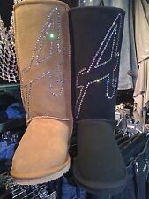 AUSTRALIAN UGG BOOTS designed by ZAHLI featuring SWAROVSKI® CRYSTAL rrp $649.00