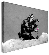The Last Flower - BANKSY NEW Modern Graffiti Art Canvas Print