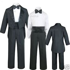 Baby Toddler Kid Teen BOY WEDDING FORMAL PARTY Tail TUXEDO SUIT S-XL 2T-4T 5-20
