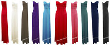 O21 NEW WOMENS LADIES PLAIN BOOBTUBE STRAPLESS BANDEAU LONG MAXI JERSEY DRESS