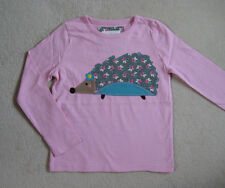 Mini Boden T Shirt Top 2 3 4 5 6 7 8 9 10 11 12  years Pink Floral Hedgehog