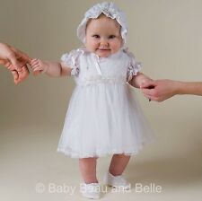 "Baby Beau & Belle ""Jessa"" girls cotton Christening, Blessing, Baptism Dress"