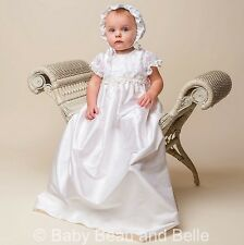 "Baby Beau & Belle ""Jessa"" Girls Silk Christening and Baptism Gown"