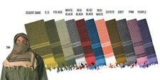 SHEMAGH 100% Cotton ARAB SCARF KEFFIYEH FASHION SCARF Real Heavy All Colors