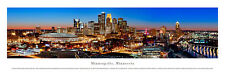 Minneapolis Minnesota Skyline Picture Panoramic Photo Nightime NEW