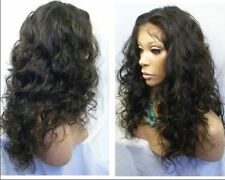 """18"""" malaysia curly french full lace /lace front wig indian remy human hair"""