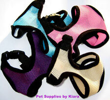 Small Dog Teacup Chihuahua Puppy Mesh Harness XS S M Pink Blue Purple Beige