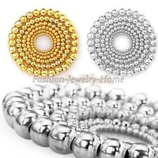 100/500pcs Silver Gold Plated Round Ball Spacer Beads Findings 4-8mm