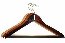 30 WOOD / WOODEN HANGERS, PANT SHIRT DRESS SKIRT TOP, MAHOGANY NATURAL CHERRY