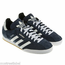 ADIDAS SAMBA SUPER SUEDE SIZE 7 8 9 10 11 12 NAVY TRAINERS SNEAKER SHOES RETRO